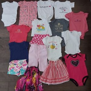 Baby girls summer lot sizes 6-12 month